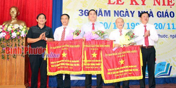 Sở GD-ĐT tổ chức lễ kỷ niệm 36 năm Ngày nhà giáo Việt Nam